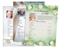 Funeral Programs Order Of Service Funeral Pamphlets Diy Bulletins Order Of Service Templates