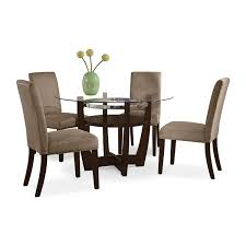 alcove dinette with 4 side chairs beige value city furniture