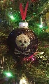 personalized skull glass ornament baubles