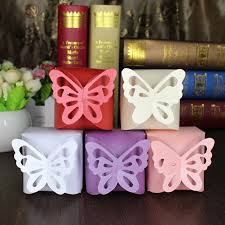 wedding gift box ideas 10pcs rregalos e boda folding diy butterfly wedding candy box for