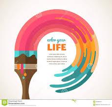 design idea design creative idea and color concept stock vector illustration