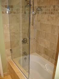 Glass Shower Sliding Doors Frameless Bathroom Frameless 3 4 Shower Sliding Door With Soaker Shower