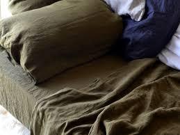 Olive Bedding Sets Green Stonewashed Linen Bedding Set