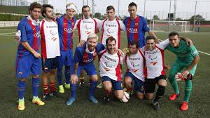 Paralympics Blind Football Spain U0027s Blind 5 A Side Football Team Take On Messi Busquets