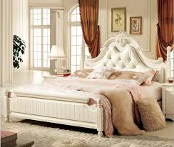 Online Get Cheap White Leather Bedroom Set Aliexpresscom - Modern white leather bedroom set