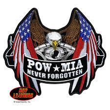 Country Flags Patches Leathers Patches Pow Mia Never Forgotten Flag Eagle Patch