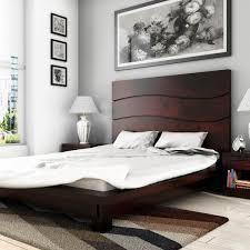 High Headboard Bed Barbara Solid Wood High Headboard Platform Bed