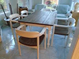 stained table top painted legs astonishing painted wood table home design and of dining top legs