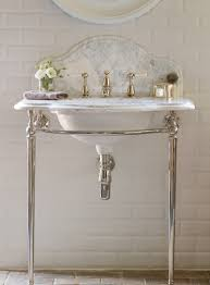 small guest bathroom or powder room with a single basin classic