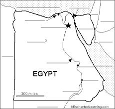 label the map of egypt printout enchantedlearning com