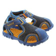 timberland kids splashtown closed sandals in blue in blue