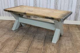 reclaimed coffee table rustic country farmhouse shabby chic painted