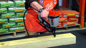 paslode compact framing nailer the home depot youtube
