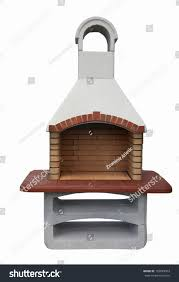 outdoor fireplace barbecue grill made bricks stock photo 156843503