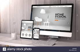 home design desktop digital generated devices on desktop responsive interior design