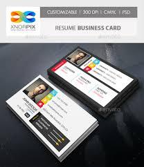 resume business cards resume business card by axnorpix graphicriver