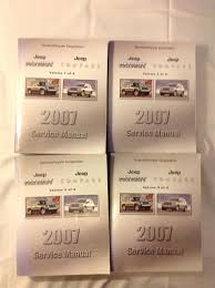 2008 jeep patriot u0026 compass repair shop manual set original 4 vol