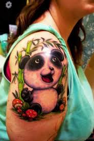 52 sweet panda tattoos on shoulder