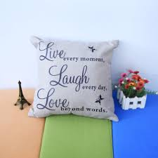 Live Love Laugh Home Decor Aliexpress Com Buy Live Laugh Love Quotes Letters Cushion Covers