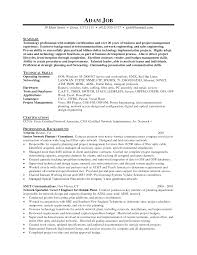 Resume For A Job Example Sample Resume For Ccna Certified Resume For Your Job Application