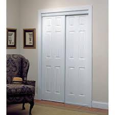 Truporte Closet Doors Truporte 106 Series 48 In X 80 In Composite White Sliding Door
