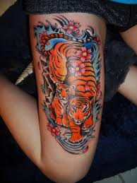 japanese tiger on thigh