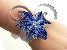 blue corsages for prom blue prom bracelet royal blue wedding wrist corsage silver