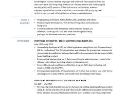 Java Developer Resume Sample by Front End Developer Resume Java Developer Resume Samples Visualcv