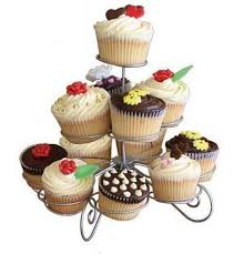 3 tier wire cupcake stand muffin holder tower wedding cakes