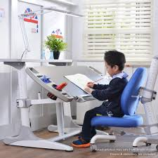 kids study desk chair and top compartment with wide led light 3 0