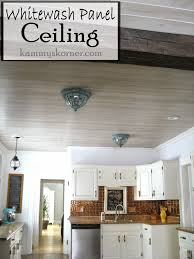 how to whitewash paneling kammy s korner whitewash paneled kitchen ceiling restoring the