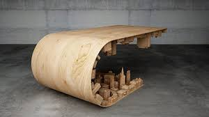 Rolling Coffee Table Inception Inspired Rolling City Coffee Table