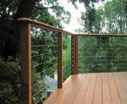 stainless steel cable railing and glass railing