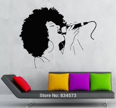 compare prices on sexy black girl decal online shopping buy low hot sexy girl black lady singer music wall art sticker decal home diy decoration decor wall