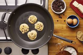 stove top stovetop skillet chocolate chip cookies anolon cookware