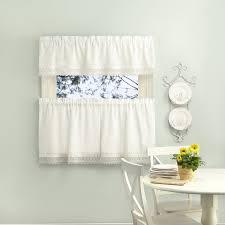 Curtain Band Sophia Rod Pocket Valance Tiers With Macrame Band U2013 Marburn Curtains