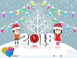new year post card postcard happy new year 2018 and merry christmas royalty free