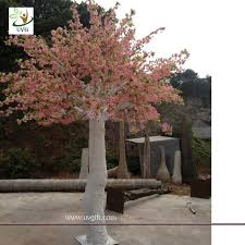 wedding backdrop china uvg pink cherry blossom artifical trees with silk flowers for