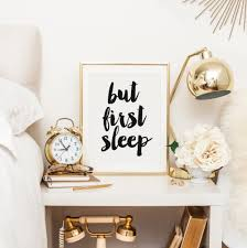 White Desk Accessories by But First Sleep Bedroom Decor Nightstand Decor Bedroom Art
