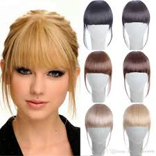 clip in fringe clip in bangs hair extension hairpieces false hair clip