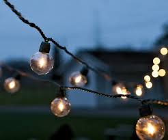 amazing strings of outdoor lights with golden globe lights another