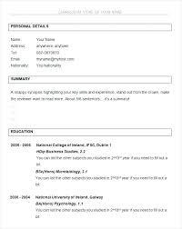 nursing cv template ireland psychology resume templates graduate nurse sle within high