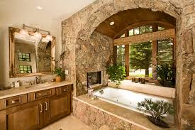 ranch home interiors rustic luxury how to get this new dcor trend at home bathroom