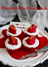 gory halloween cakes beating heart cupcakes not quite nigella