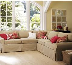 slipcovers for sectional sofa pb basic slipcovered 2 piece l shaped sectional pottery barn