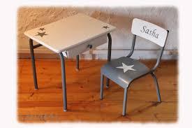 bureau chaise enfant cuisine ensemble bureau chaise d ã colier enfant vintage gris blanc