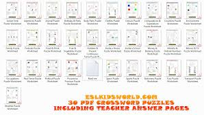 esl downloads esl kids puzzles flashcards board templates