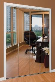 Mirrored Bifold Doors For Closets Appealing Mirror Bifold Doors And Bifold Closet Doors Creative