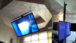 tv a soffitto staffe tv moving da soffitto af staffe tv motorizzate e