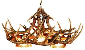 Faux Antler Chandelier Whitetail 3 Light Antler Chandelier Rustic Chandeliers By